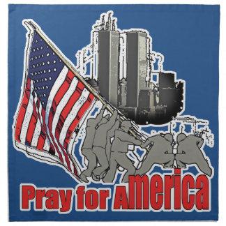 Serviettes En Tissus Priez pour l'Amérique