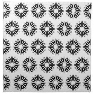 Serviettes En Tissus Rayons de soleil modernes noirs