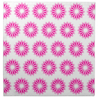 Serviettes En Tissus Rayons de soleil modernes roses