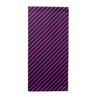 Serviettes En Tissus rayure violet