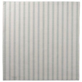 Serviettes En Tissus Rayures de coutil de toile bleue de ferme