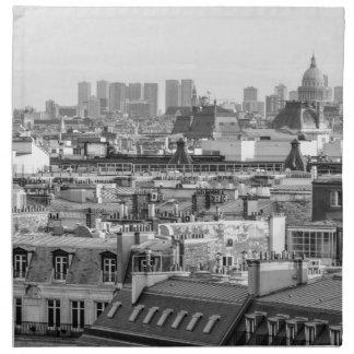 Serviettes En Tissus roofs of Paris