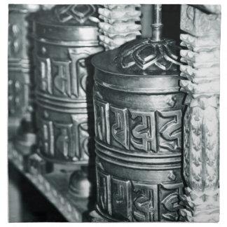 Serviettes En Tissus Roues de prière bouddhistes