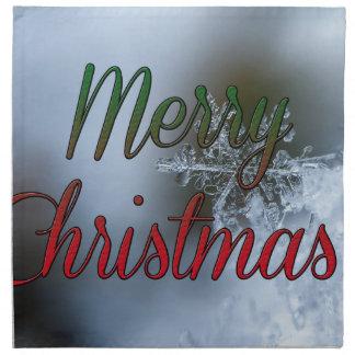 Serviettes En Tissus Salutation de flocon de neige de Joyeux Noël