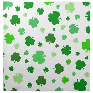 Serviettes En Tissus Shamrocks irlandais verts