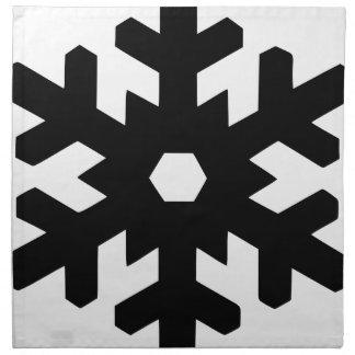 Serviettes En Tissus Silhouette de flocon de neige