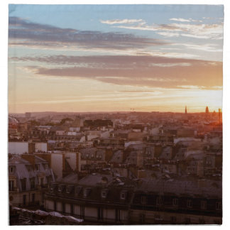 Serviettes En Tissus Sunset on the Eiffel tower, Paris, France
