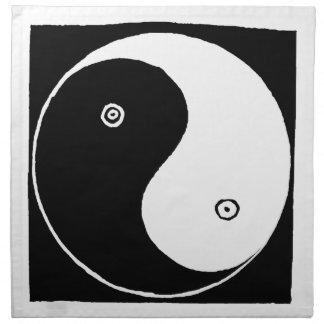 Serviettes En Tissus Symbole de Yin Yang de Chinois