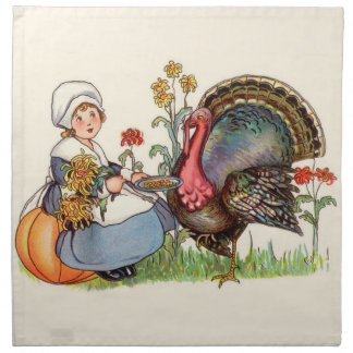 Serviettes En Tissus Thanksgiving vintage