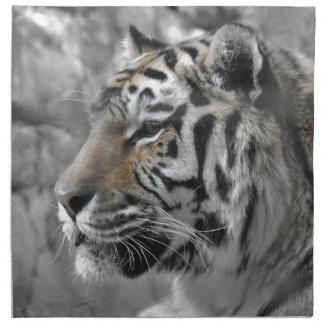 Serviettes En Tissus Tigre blanc nature animal sauvage