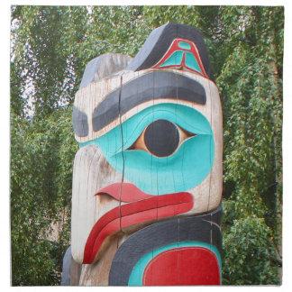 Serviettes En Tissus Totem Polonais, Anchorage, Alaska 2 de Natif