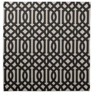 Serviettes En Tissus Treillis de toile noir de ferme