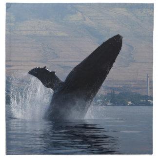 Serviettes En Tissus violation de baleine de humback
