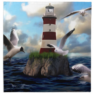 Serviettes En Tissus Voler d'oiseaux de phare