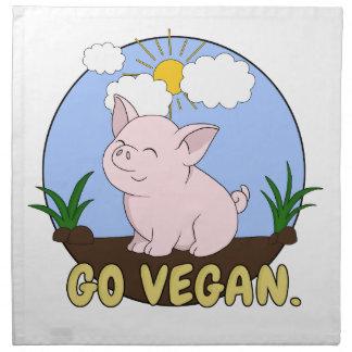 Serviettes En Tissus Vont le végétalien - porc mignon