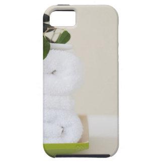 Serviettes et pierres blanches de spa coque iPhone 5