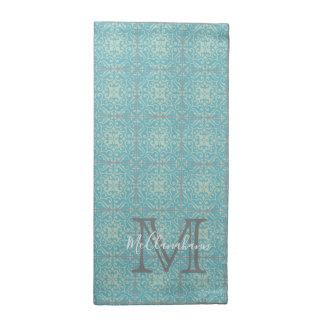 Serviettes florales de tissu de tuile de