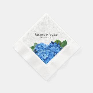 Serviettes florales d'hortensia bleu Romance de Serviettes En Papier