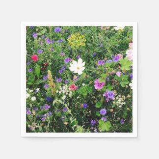 Serviettes florales serviette jetable
