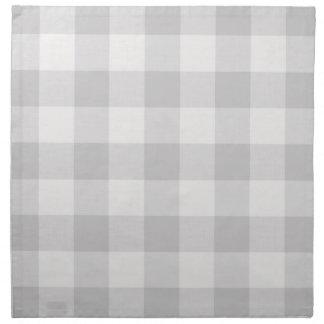 Serviettes grises de tissu de contrôle de Buffalo