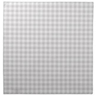Serviettes grises de tissu de guingan de ferme