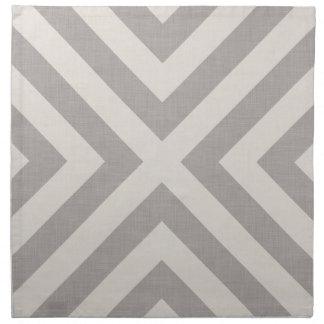 Serviettes grises de tissu de toile de la ferme X