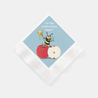 Serviettes Jetables Abeille Apple Rosh HaShana