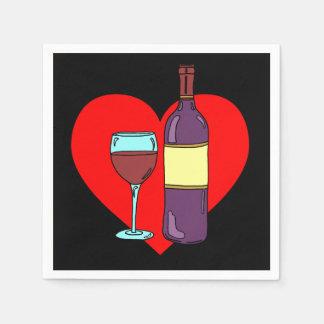 Serviettes Jetables Anti serviettes de partie de consommation de vin