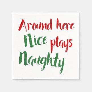 Serviettes Jetables Autour ici Nice des jeux vilains, Noël