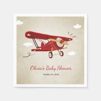 Serviettes Jetables Avion de voyage d'aventure de serviette de baby