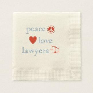 Serviettes Jetables Avocats d'amour de paix