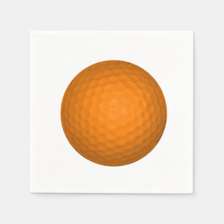 Serviettes Jetables Balle de golf orange