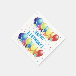 Serviettes Jetables Ballons et serviettes de papier de célébration de