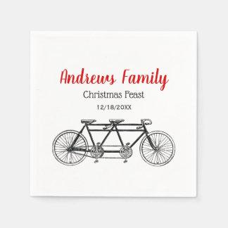 Serviettes Jetables Bicyclette vintage construite pour deux/vélo