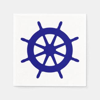 Serviettes Jetables Bleu marine sur la barre côtière blanche de bateau