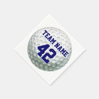 Serviettes Jetables Boule de golf peinte avec le nom