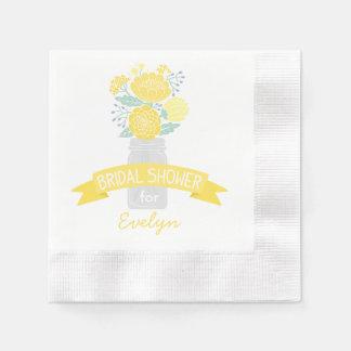 Serviettes Jetables Bouquet nuptiale de pot de maçon des serviettes |