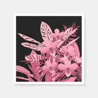 Serviettes Jetables Bouquet rose tropical
