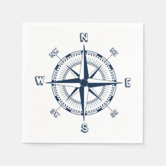Serviettes Jetables Boussole nautique