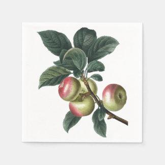 Serviettes Jetables Branche des pommes rouges