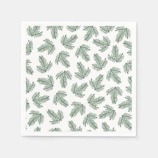 Serviettes Jetables Branches vertes de vacances de pin