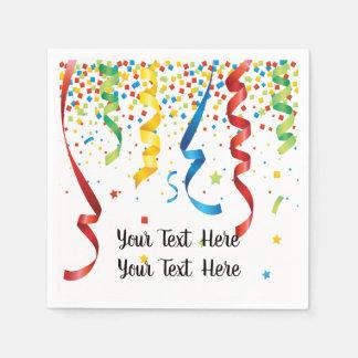 Serviettes Jetables Célébration de confettis de fête d'anniversaire