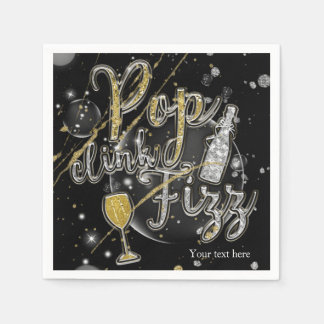 Serviettes Jetables Célébration de partie de bulles de Champagne de