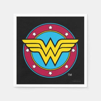 Serviettes Jetables Cercle de femme de merveille des bandes dessinées