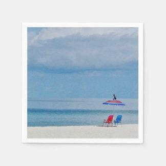 Serviettes Jetables Chaises sur la plage