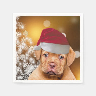 Serviettes Jetables Christmas Dogue de Bordeaux