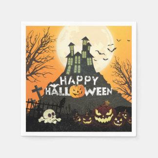 Serviettes Jetables Ciel nocturne hanté éffrayant Halloween de costume