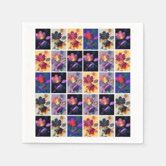 Serviettes Jetables Collage rustique d'édredon de patchwork de feuille
