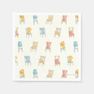 Serviettes Jetables Concerne le motif de chaises