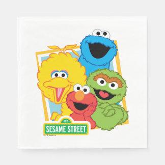 Serviettes Jetables Copains de Sesame Street